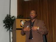 Olu speaking